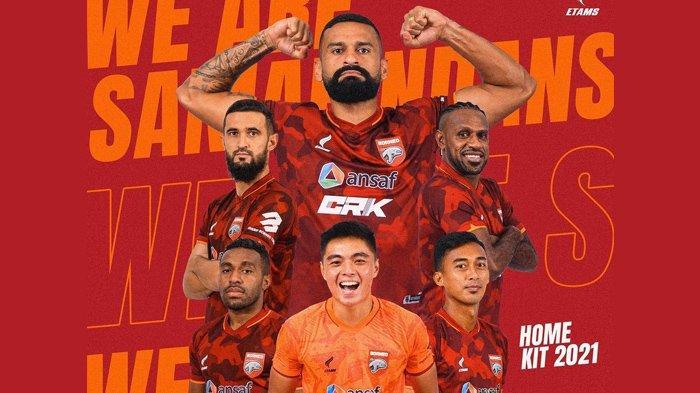 Borneo FC Rilis Jersey Baru Corak Loreng Jelang Liga 1 2021, Kental Bernuansa Pemuda Pancasila