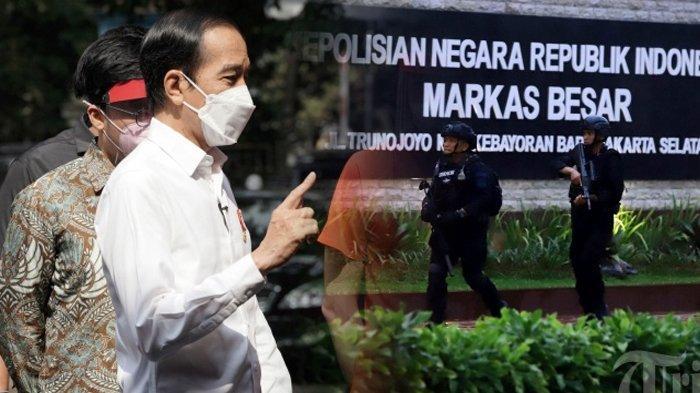 Imbas Serangan Terduga Teroris di Mabes Polri, Jokowi Beri Peringatan ke Kapolri dan Panglima TNI