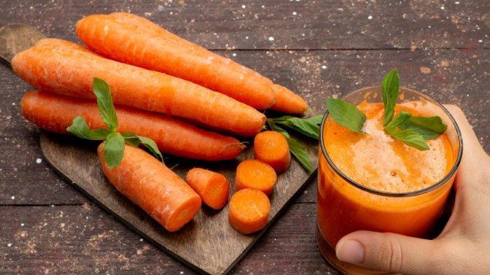 Ilustrasi jus wortel - Simak manfaatnya saat dikonsumsi di pagi hari
