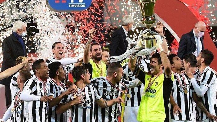 Juventus juara Coppa Italia setelah menundukkan Atalanta dengan skor 2-1, Kamis (22/05/2021). (Instagram / @bianconerismo)