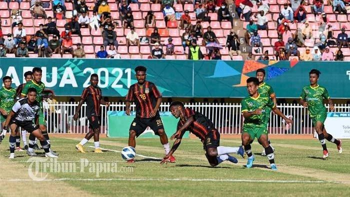 Dihajar Tuan Rumah, Kalimantan Timur Gagal Lolos ke Final Sepak Bola Putra PON Papua 2021