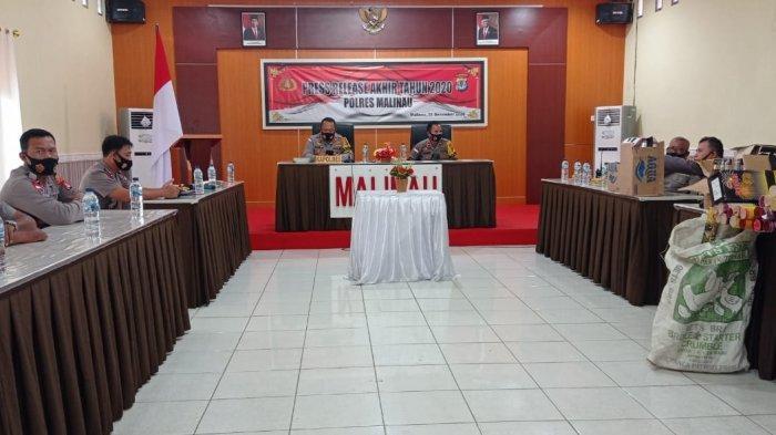 Meningkat di Tahun 2020, Polres Malinau Tangani 49 Tindak Pidana, Kasus Narkotika Peringkat Pertama