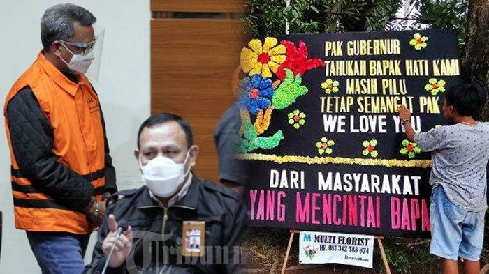 Ditangkap KPK, Nurdin Abdullah Banjir Dukungan, Rumah Jabatan Gubernur Sulsel Diserbu Karangan Bunga
