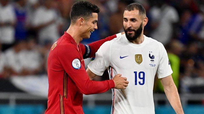 Terbongkar Isi Percakapan Benzema dan Cristiano Ronaldo di Euro 2020 saat Portugal Imbangi Prancis
