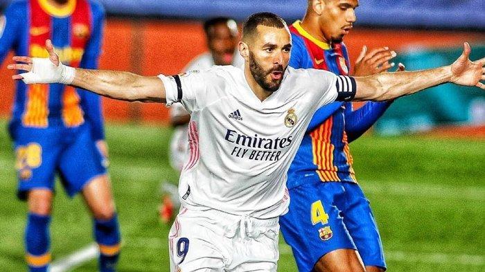 Hasil El Clasico, Gol Cantik Benzema dan Toni Kroos, Bawa Real Madrid Tundukkan Barcelona