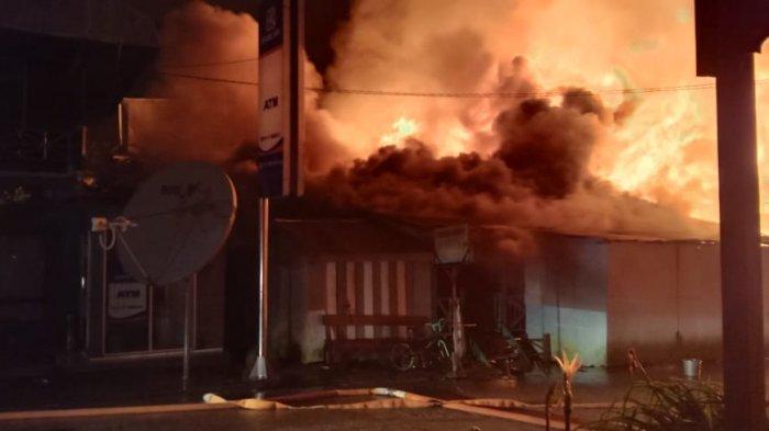Kebakaran di Kabupaten Mahkam Ulu, pukul 04.00 Wita, Sabtu (29/5/2021)
