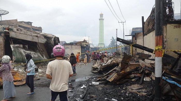 Kebakaran di Nunukan, Toko Emas hingga Kios Penjual Kue Ludes Terbakar, Korban Terpaksa Mengungsi