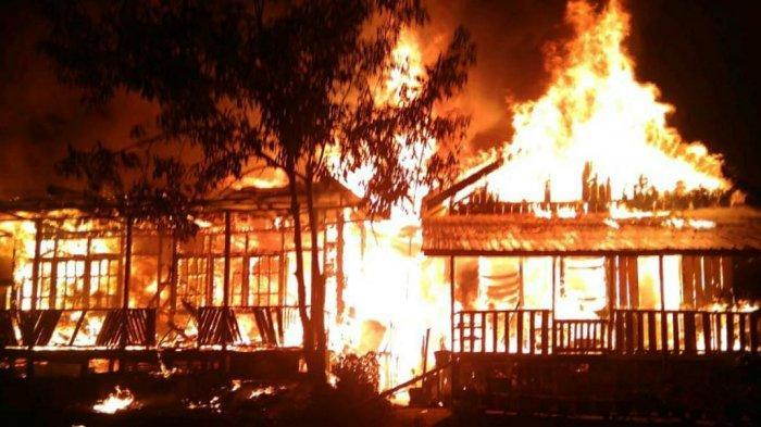 Rumah dan Posyandu Terbakar di Kabupaten PPU, Korban Hanya Ada Baju Menempel di Badan