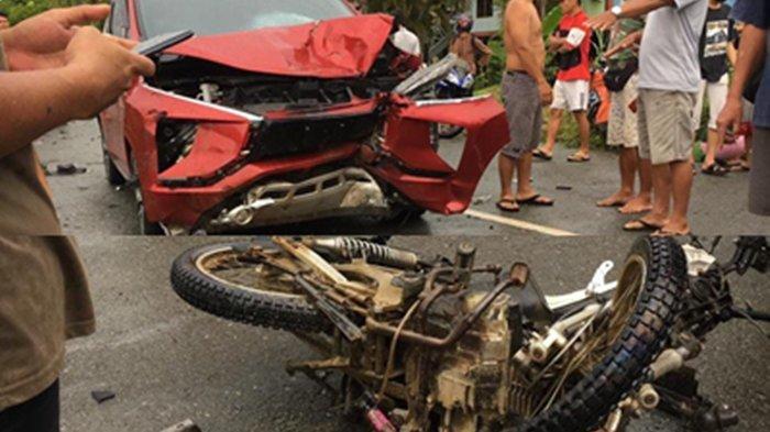 Kecelakaan Maut Motor vs Mobil di Desa Kuala Lapang, Seorang Korban Meninggal Dunia dan 1 Luka Berat