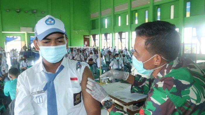 Ikut Dukung PTM, Kodim 0907 Tarakan Gelar Serbuan Vaksinasi Covid-19 Sasar Pelajar SMKN 2 Tarakan
