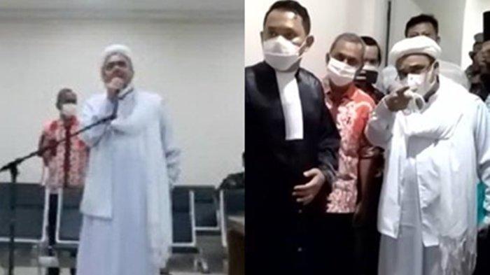 Debat Habib Rizieq dengan Hakim Buat Keributan di Sidang, Menghina Hakim? Seret Komentar Mabes Polri