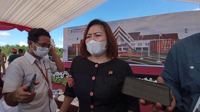 Ketua DPRD Kaltara Norhayati Lega saat Peletakan Batu Pertama: Tujuh Tahun Tak Memiliki Gedung