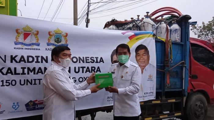 Atasi Pandemi Covid-19, Gubernur Kaltara Zainal A Paliwang Dibantu 150 Tabung Oksigen dari Kadin