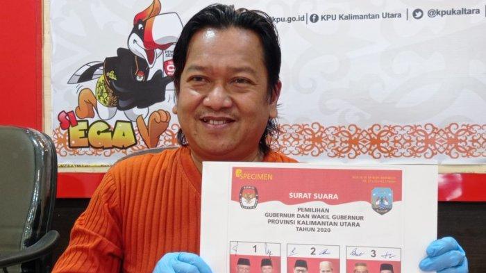 Foto Surat Suara Tiga Cagub Kaltara Disepakati, Udin dan Zainal Pakai Jas, Irianto Kemeja