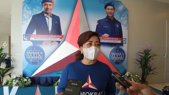 Ketua Perempuan Demokrasi Republik Indonesia, Ping Ding saat ditemui di acara Musda ke-II DPD Partai Demokrat Kaltara, (TRIBUNKALTARA.COM / MAULANA ILHAMI FAWDI)