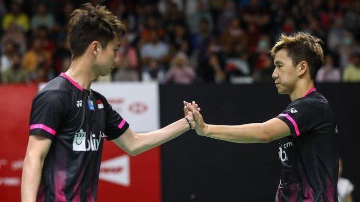 Hasil Bulu Tangkis Olimpiade Tokyo 2020 - Marcus/Kevin dan Jonatan Christie Menang Mudah