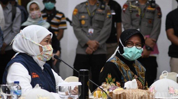 Reaksi Gubernur Jatim Khofifah saat Tahu Wali Kota Surabaya Risma Jadi Penerusnya di Mensos