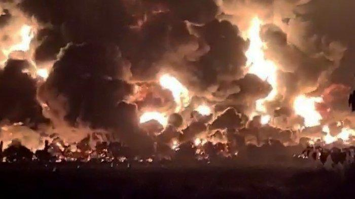 Pertamina Klaim 2 Tangki yang Terbakar di Indramayu, Kosong, BPBD Cium Kejanggalan sebelum Meledak
