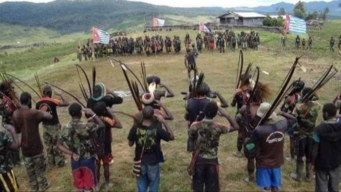 ILUSTRASI - Anggota KKB Papua yang terus diburu oleh Satgas Nemangkawi