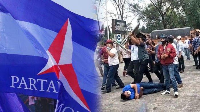 LENGKAP Kronologi Bentrokan Massa Pendukung AHY vs Pro Moeldoko saat KLB Partai Demokrat di Sumut