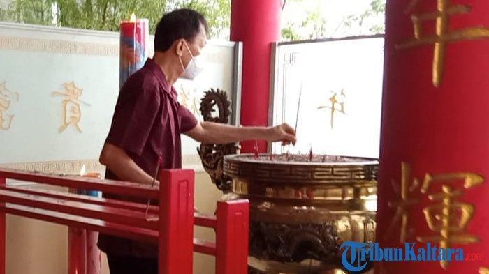 Pandemi Covid-19, Perayaan Imlek di Klenteng Ta Pek Kong Tanjung Selor Hening dan Sepi
