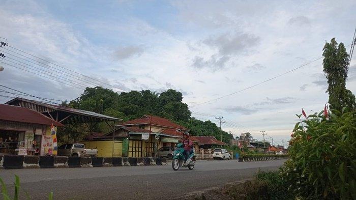 Kondisi cuaca pada pagi hari ini di wilayah Kecamatan Malinau Kota, Kabupaten Malinau, Provinsi Kalimantan utara, Minggu (22/8/2021). (TribunKaltara.com / Mohammad Supri)