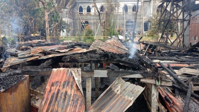 Bangunan 2 Lantai Gedung Pastoran Santo Stefanus Malinau Terbakar, Berikut Keterangan Saksi Mata