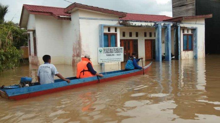 Kondisi terkini banjir di Sembakung Nunukan. (HO/KSB Sembakung)