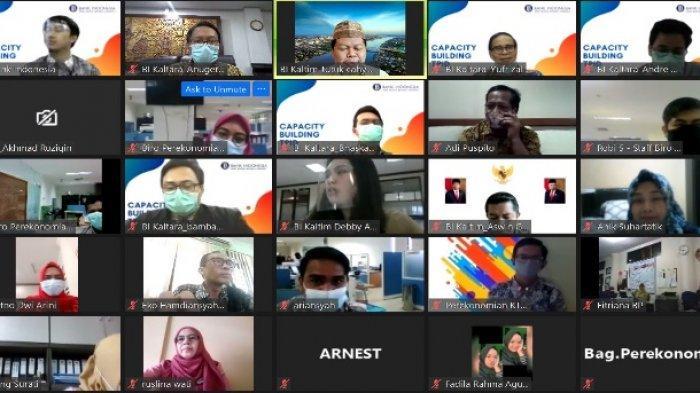 KPwBI Kaltara adakan sharing session TPID se-Kaltara. Sharing session ini diadakan secara virtual. (HO/Humas BI Kaltara)