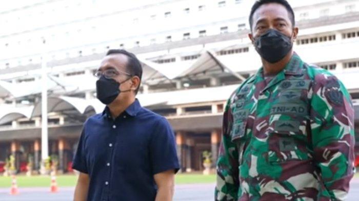Berdalih Lihat Arwana, Pertemuan Orang Dalam Istana Bisa Muluskan Andika Perkasa jadi Panglima TNI?