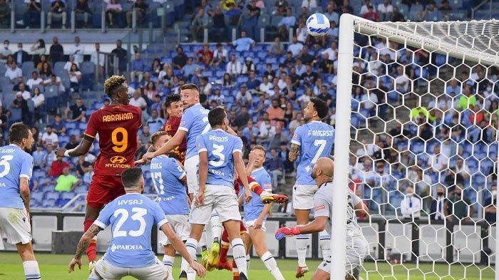 Hasil Liga Italia, Dibobol Mantan, AS Roma Keok dalam Derby della Capitale Kontra Lazio di Olimpico