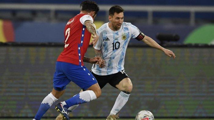 Hasil Argentina vs Chile di Copa Amerika 2021, Lionel Messi Cetak Gol, Penalti Arturo Vidal Diblok