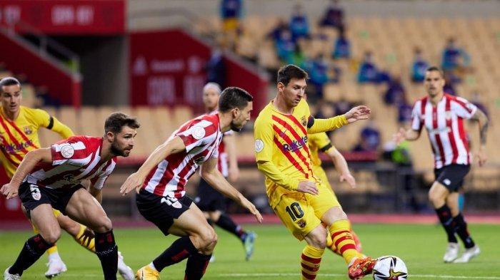 Lionel Messi Cetak Brace, Barcelona Bantai Athletic Club 4-0, Blaugrana Juara Copa Del Rey