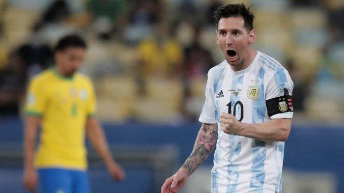 Hasil Final Copa America 2021, Argentina Juara di Markas Brasil, Lionel Messi Peluk Erat Neymar