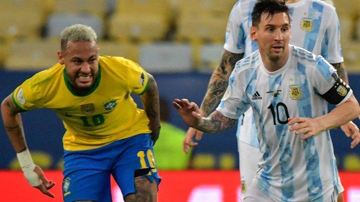 Argentina Juara Copa America 2021, Messi Angkat Trofi usai Tumbangkan Brasil, Neymar Gigit Jari