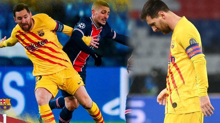 Hasil Liga Champions PSG vs Barcelona, Diwarnai Gagal Penalti, Lionel Messi Susul Cristiano Ronaldo