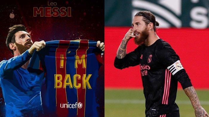 Bantu Barcelona Menang, Lionel Messi Susul Kapten Real Madrid Sergio Ramos Cetak Rekor Gol La Liga