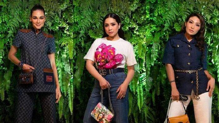 Cantiknya Nagita Slavina Pakai Koleksi Gucci, Kompak Pemotretan dengan Luna Maya dan Ayu Dewi