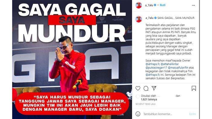 Ngaku Gagal, Manajer AHHA PS Pati FC Doni Setiabudi Mengundurkan Diri, Atta: Sehat Selalu Kang Jalu