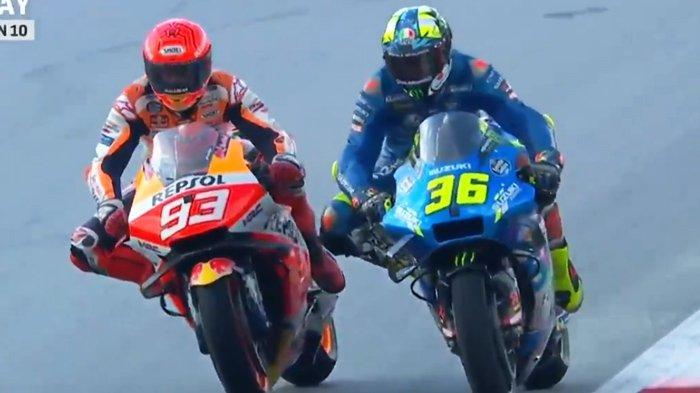 MotoGP Austria 2021, Marc Marquez Berulah Lagi Bikin Joan Mir Jengkel Jelang Perebutan Pole Position