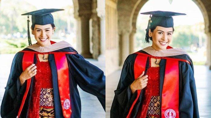Tampil Anggun Kenakan Kebaya, Maudy Ayunda Umumkan Lulus S2 dari Stanford University