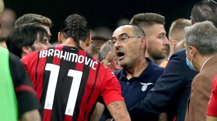 Akar Masalah Pelatih Lazio Ngamuk dan Dikartu Merah usai Kalah dari AC Milan, Didatangi Ibrahimovic