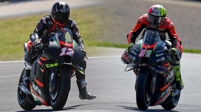 MotoGP Aragon 2021, Duet Vinales dan Aleix Espargaro di Aprilia, Didukung Rival Valentino Rossi