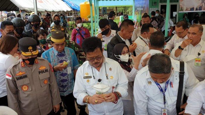 Kunjungi Kaltara, Menteri Pertanian SYL Cicip Durian Sebut Bagus Banget, Minta Ini Kepada Gubernur