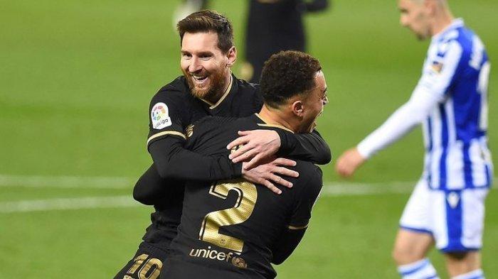 Hasil Liga Spanyol – Barca Pesta Gol di Kandang Real Sociedad, Lionel Messi Cetak Rekor Ungguli Xavi