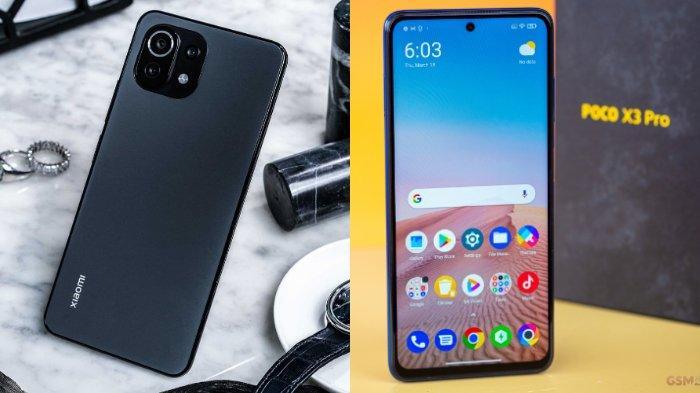 Update Harga HP Xiaomi Bulan Juni 2021 dan Spesifikasi Mi 11 Lite, Redmi Note 10s, dan Poco X3 Pro