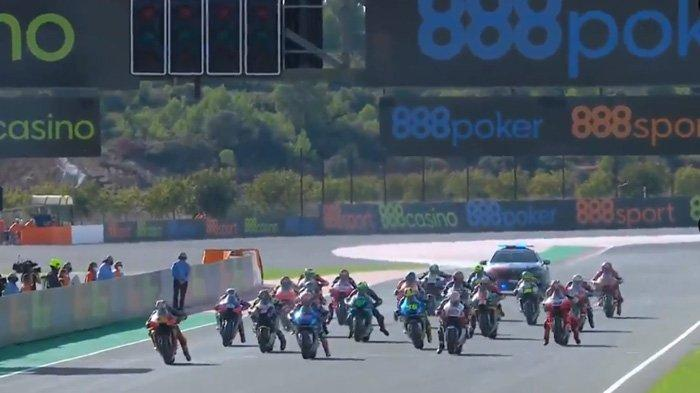 Balapan MotoGP Eropa 2020, Minggu (8/11/2020) (Twitter / @motogp)