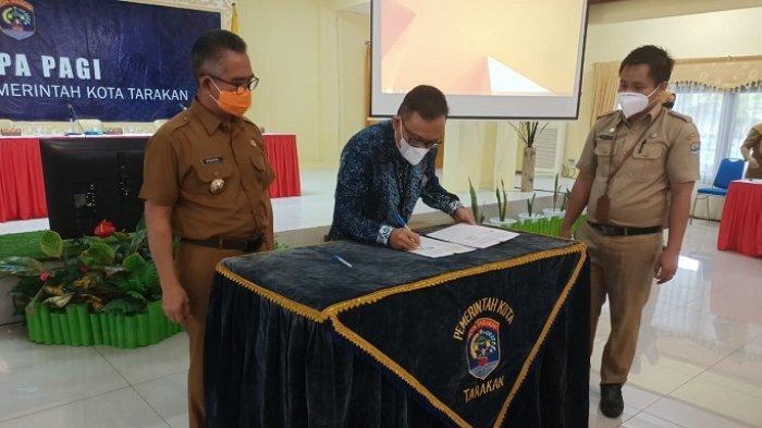Teken Nota Kesepakatan, Perkuat Sinergi Pemkot Tarakan dan Ditjen Perbendaharaan Provinsi Kaltara