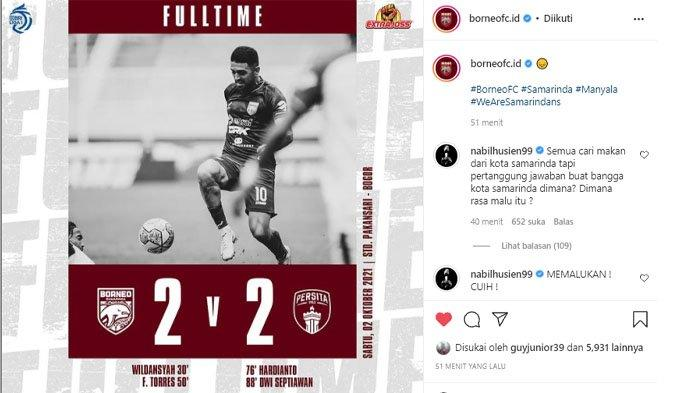 Nabil Husein Kecewa Berat, Borneo FC tak Mampu Kalahkan 10 Pemain Persita, Singgung Malu dan Gaji