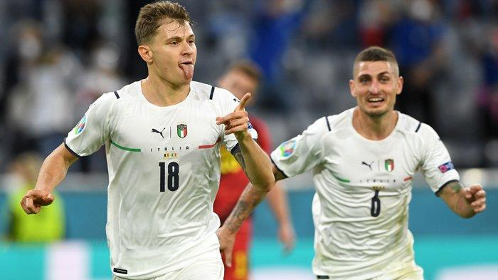 Hasil Euro 2020, Barella dan Insigne Hentikan Langkah Belgia, Italia Tantang Spanyol di Semifinal